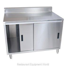 BK Resources BKDCR5-3096S Work Table, Cabinet Base Sliding Doors