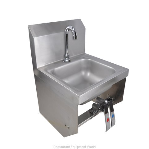 BK Resources BKHS-D-SS-1-BKK-PG Sink, Hand (Magnified)
