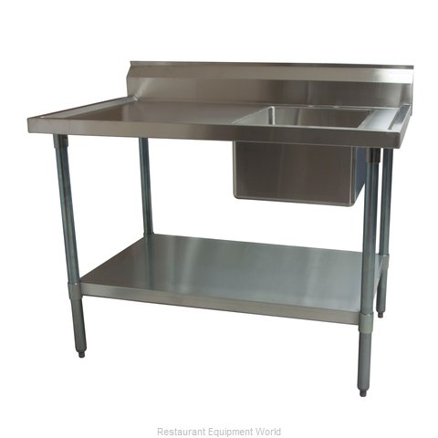 BK Resources BKMPT-3048S-R Work Table, with Prep Sink(s)