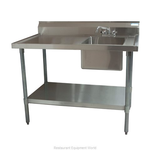 BK Resources BKMPT-3060G-R-P-G Work Table, with Prep Sink(s)