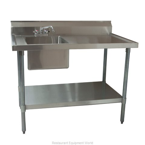 BK Resources BKMPT-3060S-L-P-G Work Table, with Prep Sink(s)