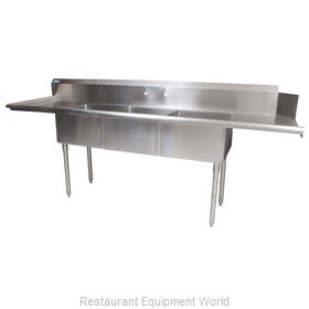 BK Resources BKSDT-3-20-12-20LS Dishtable, With Potsinks