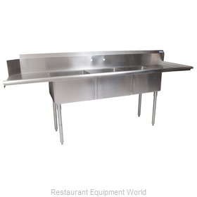 BK Resources BKSDT-3-20-12-20RS Dishtable, With Potsinks