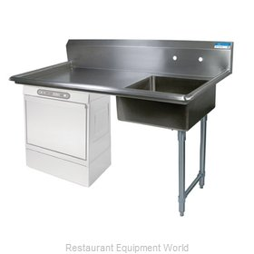 BK Resources BKUCDT-50-R-P-G Dishtable, Soiled, Undercounter Type