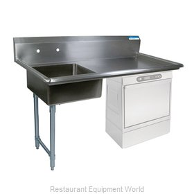 BK Resources BKUCDT-60-L-P3-G Dishtable, Soiled, Undercounter Type