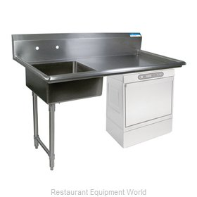 BK Resources BKUCDT-60-L-SS Dishtable, Soiled, Undercounter Type