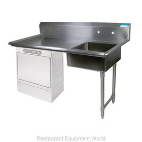 BK Resources BKUCDT-60-R-SS Dishtable, Soiled, Undercounter Type
