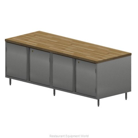 BK Resources CMT-3096HL Work Table, Wood Top