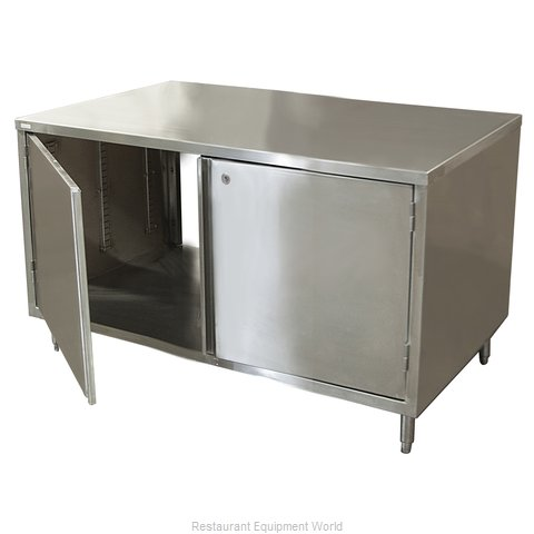 BK Resources CST-2448HL2 Work Table, Cabinet Base Hinged Doors