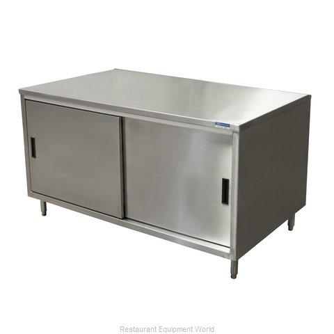 BK Resources CST-2460S Work Table, Cabinet Base Sliding Doors