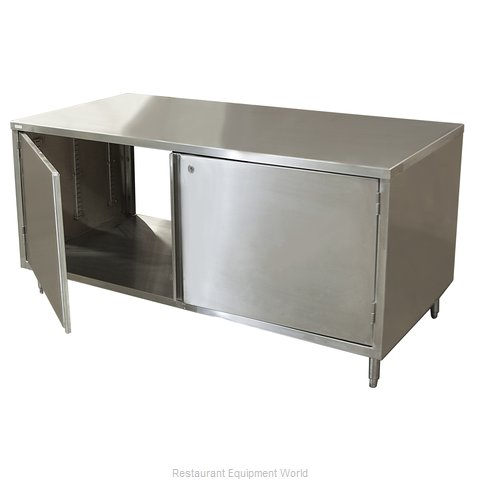 BK Resources CST-2472HL2 Work Table, Cabinet Base Hinged Doors