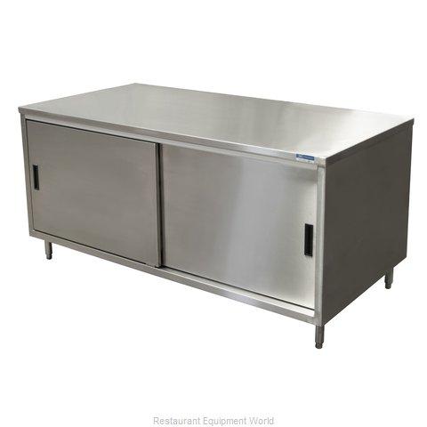 BK Resources CST-2472S Work Table, Cabinet Base Sliding Doors