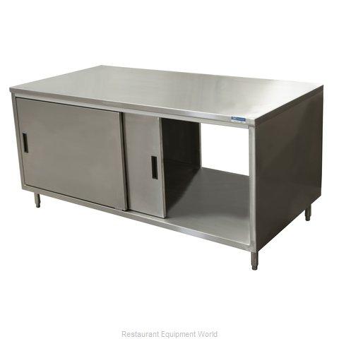 BK Resources CST-2472S2 Work Table, Cabinet Base Sliding Doors