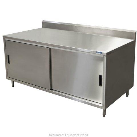 BK Resources CSTR5-2460S Work Table, Cabinet Base Sliding Doors