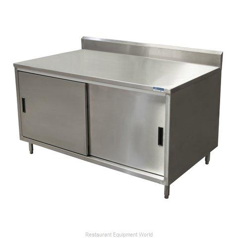 BK Resources CSTR5-3048S Work Table, Cabinet Base Sliding Doors