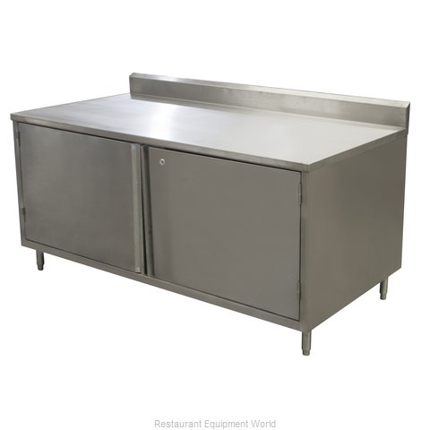 BK Resources CSTR5-3072HL Work Table, Cabinet Base Hinged Doors