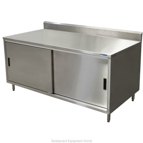 BK Resources CSTR5-3072S Work Table, Cabinet Base Sliding Doors