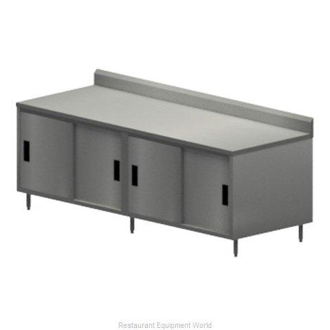 BK Resources CSTR5-3096S Work Table, Cabinet Base Sliding Doors