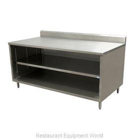 BK Resources CSTR5-3672 Work Table, Cabinet Base Open Front