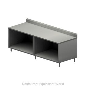 BK Resources CSTR5-3696 Work Table, Cabinet Base Open Front