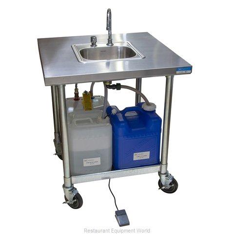 BK Resources MHS-V3030-H-DM Hand Sink, Mobile