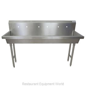 BK Resources MSHS-72F2 Sink, Hand