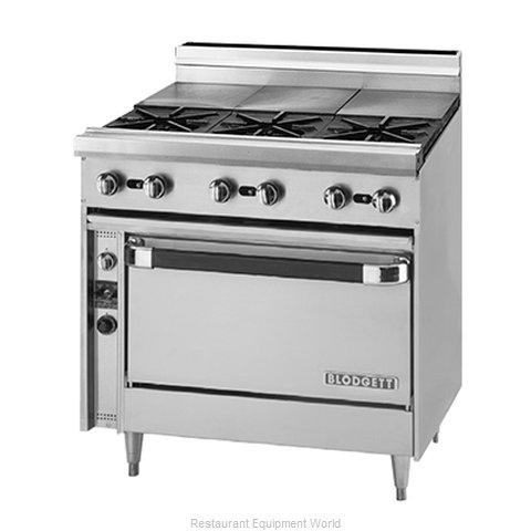 Blodgett BP-3ST-36 Range 36 3 open burners front 3 hot tops rear