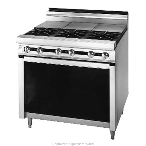 Blodgett BP-6ST Range 72 6 open burners front hot tops rear
