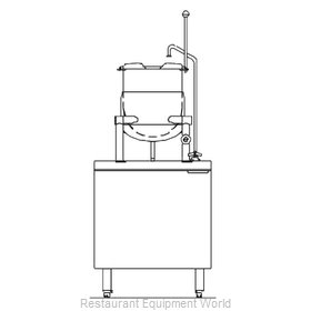 Blodgett Steam CB24D-10K Kettle Cabinet Assembly, Direct-Steam
