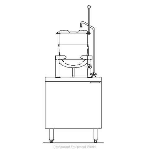 Blodgett Steam CB24D-6K Kettle Cabinet Assembly, Direct-Steam