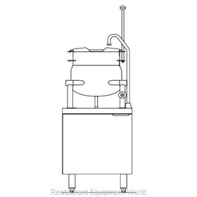 Blodgett Steam CB24E-10K Kettle Cabinet Assembly, Electric