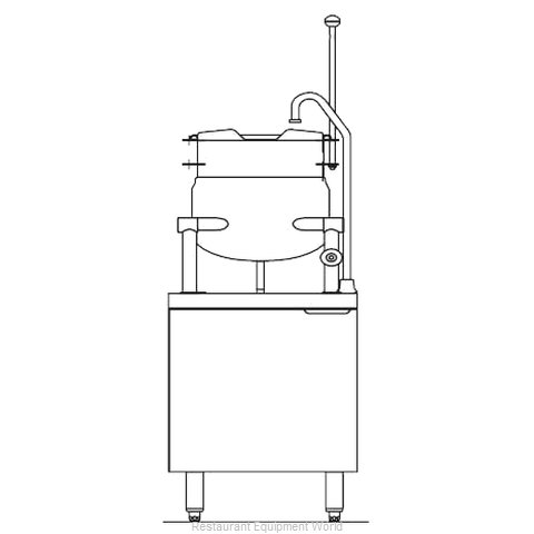 Blodgett Steam CB24E-6K Kettle Cabinet Assembly, Electric
