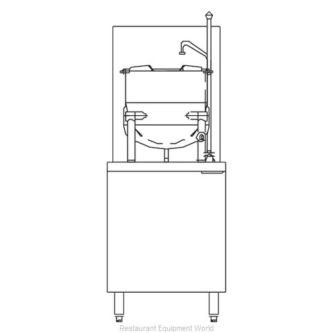 Blodgett Steam CB24G-6K Kettle Cabinet Assembly, Gas (Magnified)
