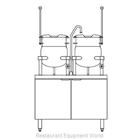 Blodgett Steam CB36D-6-6K Kettle Cabinet Assembly, Direct-Steam