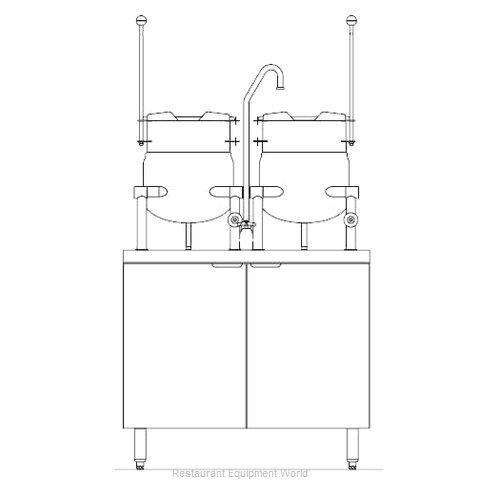 Blodgett Steam CB36E-6-6K Kettle Cabinet Assembly, Electric