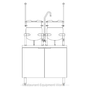 Blodgett Steam CB36E-6-6K Kettle Cabinet Assembly, Electric