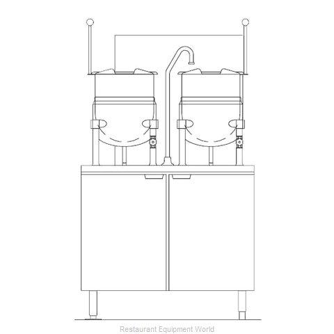 Blodgett Steam CB36G-6-6K Kettle Cabinet Assembly, Gas