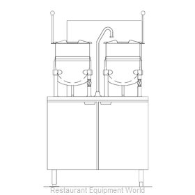 Blodgett Steam CB36G-6-6K Kettle Cabinet Assembly, Gas