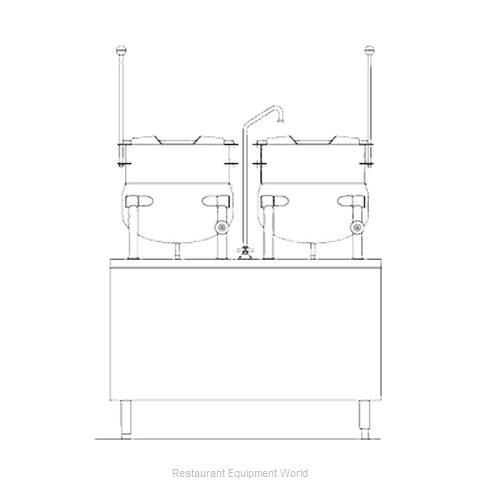Blodgett Steam CB42D-10-10K Kettle Cabinet Assembly, Direct-Steam