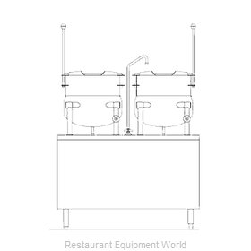 Blodgett Steam CB42D-10-10K Kettle Cabinet Assembly, Direct-Steam