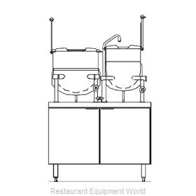 Blodgett Steam CB42D-10-6K Kettle Cabinet Assembly, Direct-Steam