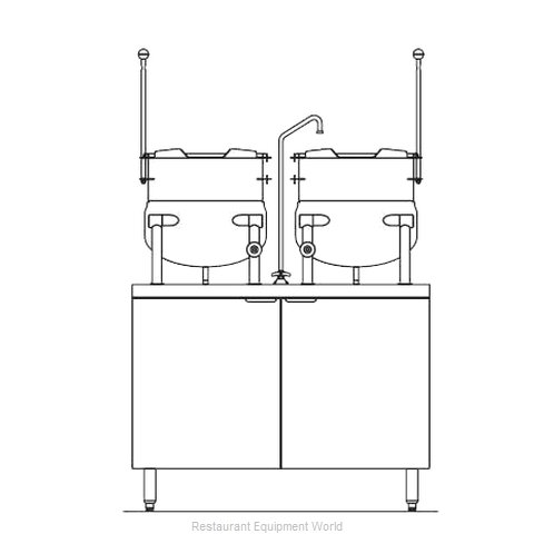 Blodgett Steam CB42E-10-10K Kettle Cabinet Assembly, Electric (Magnified)