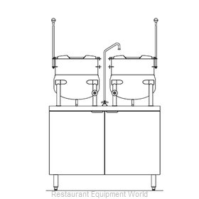 Blodgett Steam CB42E-10-10K Kettle Cabinet Assembly, Electric