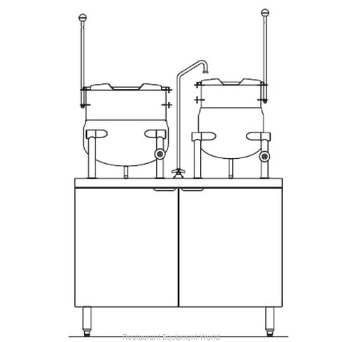 Blodgett Steam CB42E-10-6K Kettle Cabinet Assembly, Electric (Magnified)