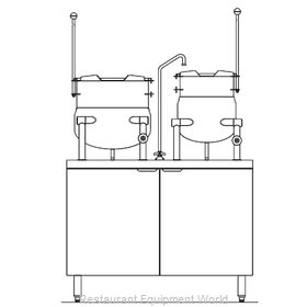 Blodgett Steam CB42E-10-6K Kettle Cabinet Assembly, Electric