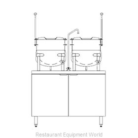 Blodgett Steam CB42G-10-10K Kettle Cabinet Assembly, Gas