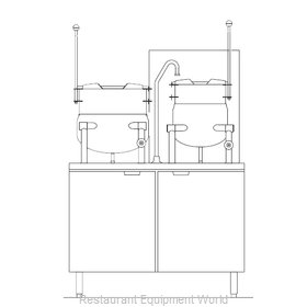 Blodgett Steam CB42G-10-6K Kettle Cabinet Assembly, Gas
