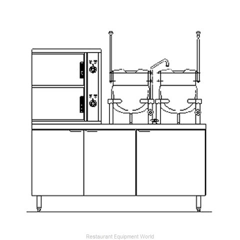 Blodgett Steam SB-10E-6-10K Steamer Kettle Combination, Electric