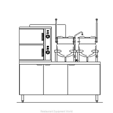 Blodgett Steam SB-10G-6-6K Steamer Kettle Combination, Gas
