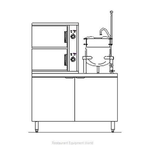 Blodgett Steam SB-6E-6K Steamer Kettle Combination, Electric